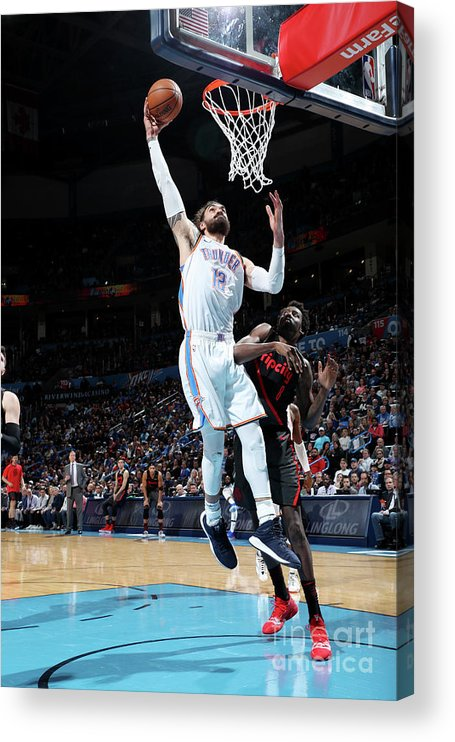 Nba Pro Basketball Acrylic Print featuring the photograph Steven Adams by Zach Beeker