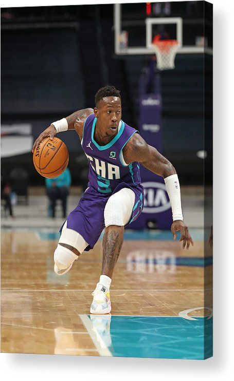 Nba Pro Basketball Acrylic Print featuring the photograph Terry Rozier by Brock Williams-Smith