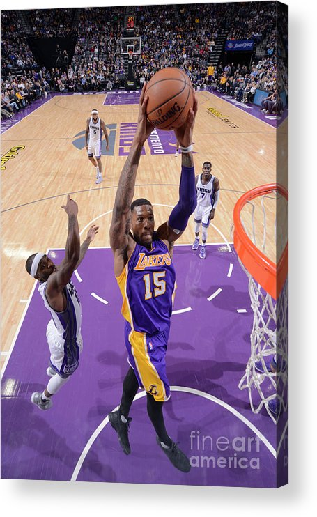 Nba Pro Basketball Acrylic Print featuring the photograph Thomas Robinson by Rocky Widner