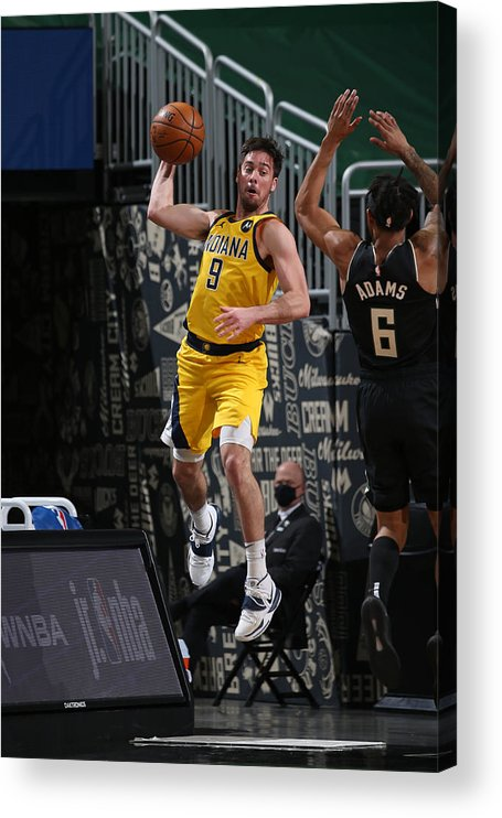 Nba Pro Basketball Acrylic Print featuring the photograph T.j. Mcconnell by Gary Dineen