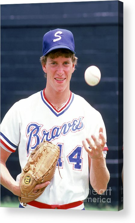 1980-1989 Acrylic Print featuring the photograph Tom Glavine by Rich Pilling