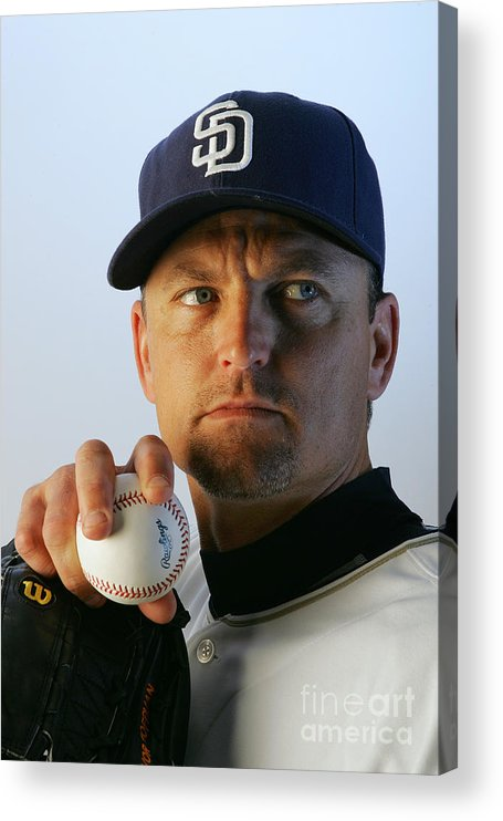 Media Day Acrylic Print featuring the photograph Trevor Hoffman by Jeff Gross