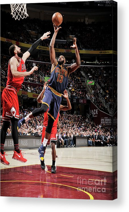Nba Pro Basketball Acrylic Print featuring the photograph Tristan Thompson by David Liam Kyle