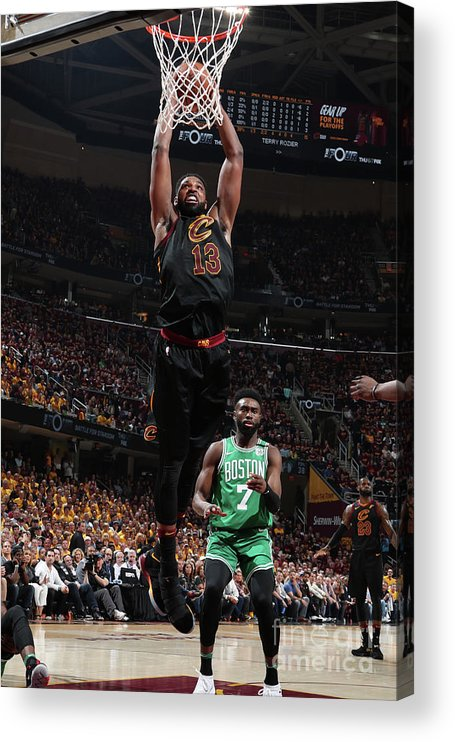 Playoffs Acrylic Print featuring the photograph Tristan Thompson by Nathaniel S. Butler