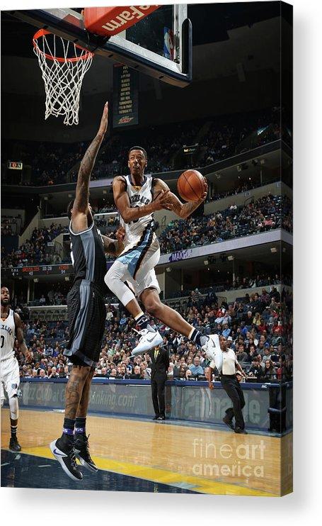 Nba Pro Basketball Acrylic Print featuring the photograph Troy Williams by Joe Murphy