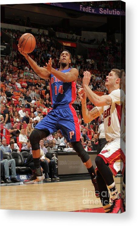 Nba Pro Basketball Acrylic Print featuring the photograph Tyler Johnson by Oscar Baldizon