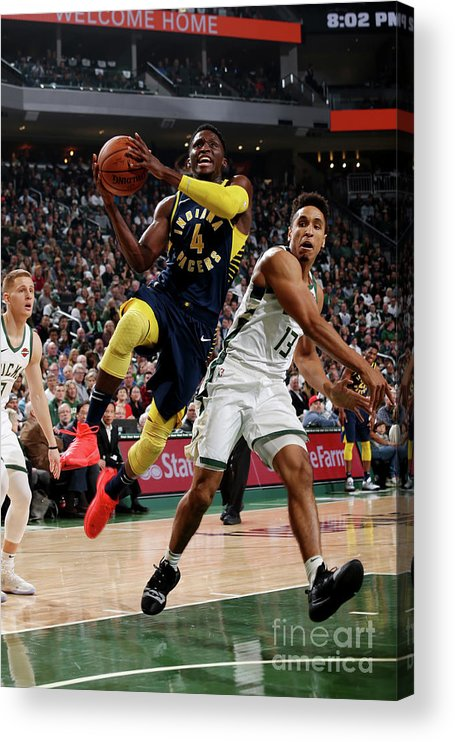 Nba Pro Basketball Acrylic Print featuring the photograph Victor Oladipo by Gary Dineen