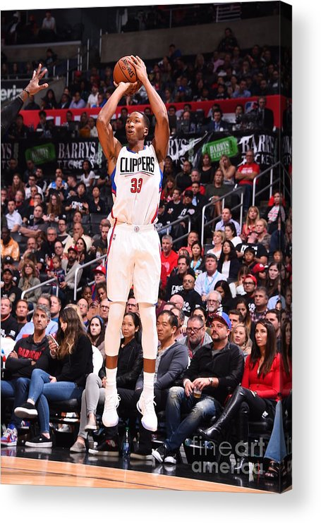 Nba Pro Basketball Acrylic Print featuring the photograph Wesley Johnson by Andrew D. Bernstein