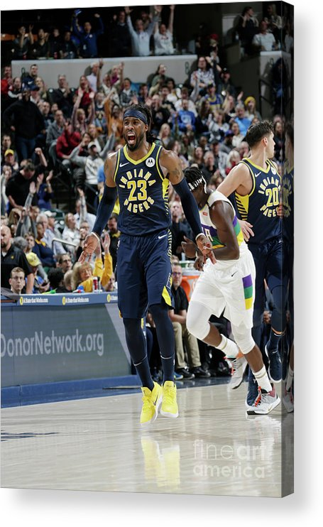 Nba Pro Basketball Acrylic Print featuring the photograph Wesley Matthews by Ron Hoskins