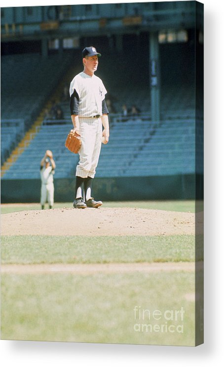 American League Baseball Acrylic Print featuring the photograph Whitey Ford by Louis Requena