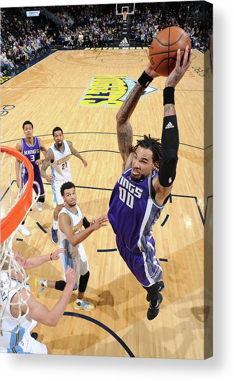 Nba Pro Basketball Acrylic Print featuring the photograph Willie Cauley-stein by Garrett Ellwood