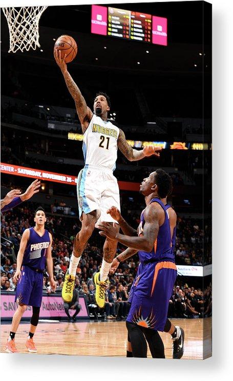 Nba Pro Basketball Acrylic Print featuring the photograph Wilson Chandler by Garrett Ellwood