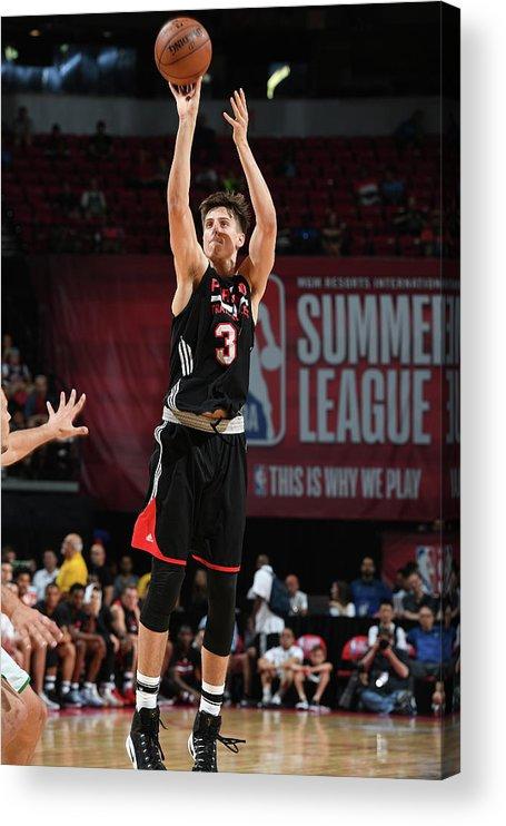 Nba Pro Basketball Acrylic Print featuring the photograph Zach Collins by Garrett Ellwood
