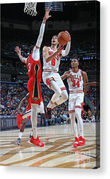 Chicago Bulls Acrylic Print featuring the photograph Zach Lavine by Layne Murdoch Jr.