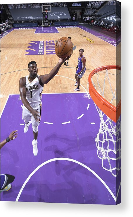 Nba Pro Basketball Acrylic Print featuring the photograph Zion Williamson by Rocky Widner