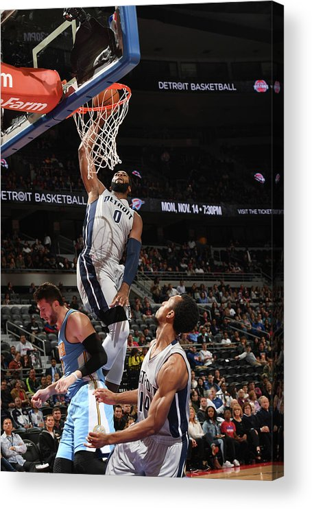 Nba Pro Basketball Acrylic Print featuring the photograph Andre Drummond by Chris Schwegler