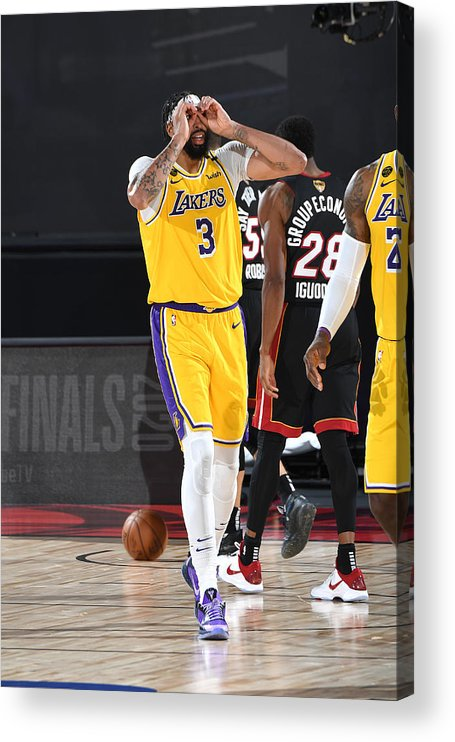 Playoffs Acrylic Print featuring the photograph Anthony Davis by Andrew D. Bernstein