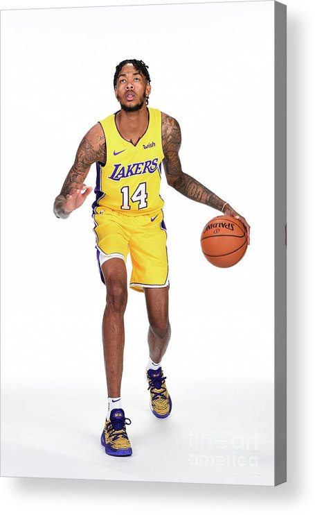 Media Day Acrylic Print featuring the photograph Brandon Ingram by Andrew D. Bernstein