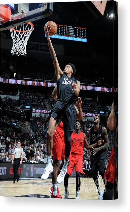 Nba Pro Basketball Acrylic Print featuring the photograph Dejounte Murray by Mark Sobhani