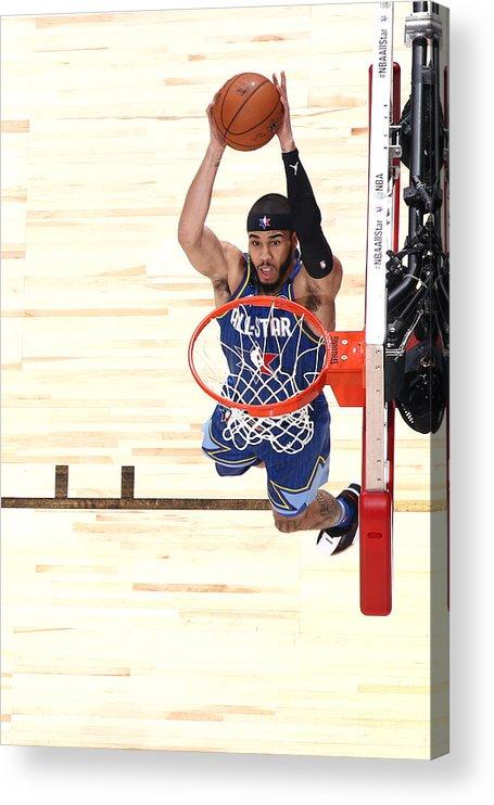 Nba Pro Basketball Acrylic Print featuring the photograph Jayson Tatum by Nathaniel S. Butler
