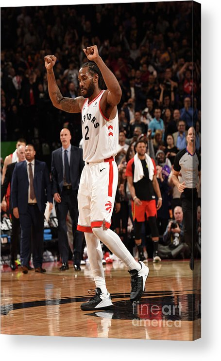 Nba Pro Basketball Acrylic Print featuring the photograph Kawhi Leonard by Ron Turenne