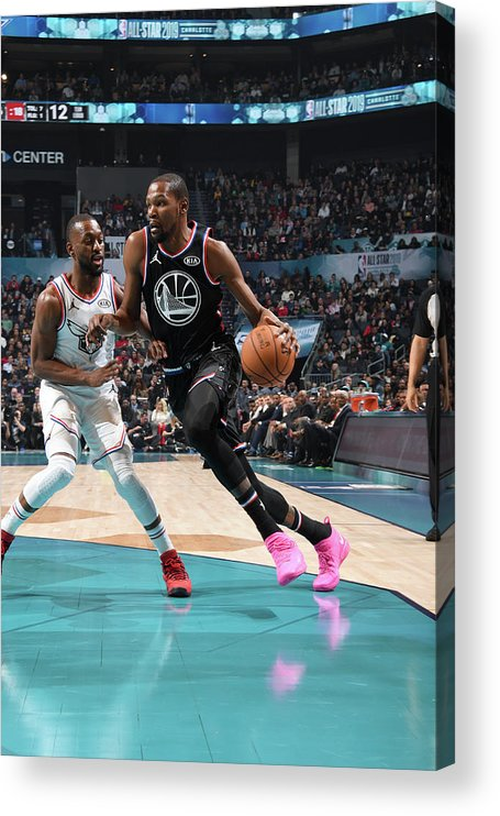 Nba Pro Basketball Acrylic Print featuring the photograph Kevin Durant by Andrew D. Bernstein