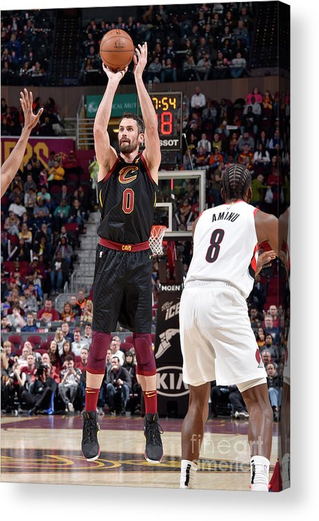 Nba Pro Basketball Acrylic Print featuring the photograph Kevin Love by David Liam Kyle