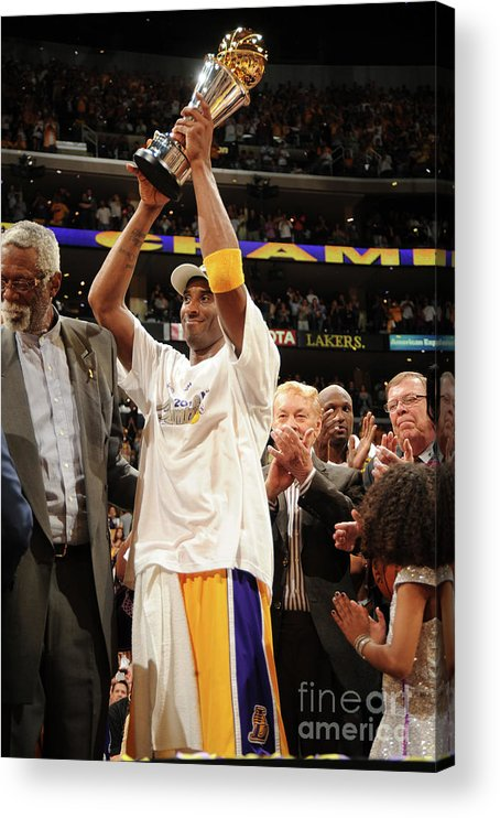 Following Acrylic Print featuring the photograph Kobe Bryant by Andrew D. Bernstein