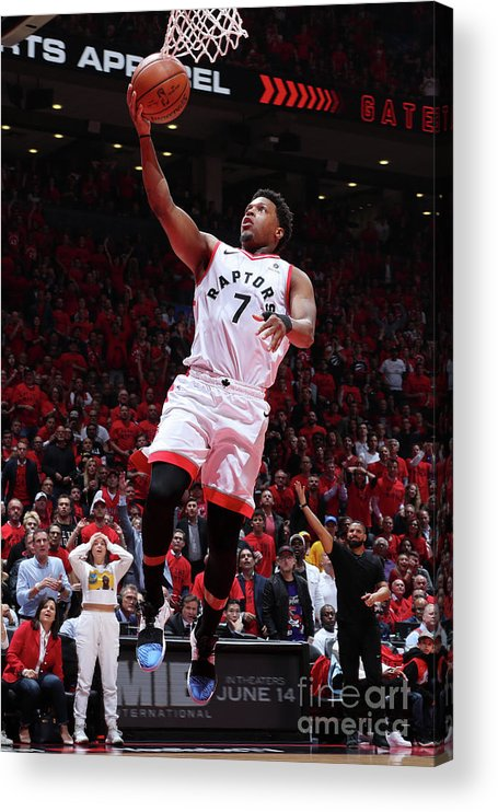 Playoffs Acrylic Print featuring the photograph Kyle Lowry by Nathaniel S. Butler