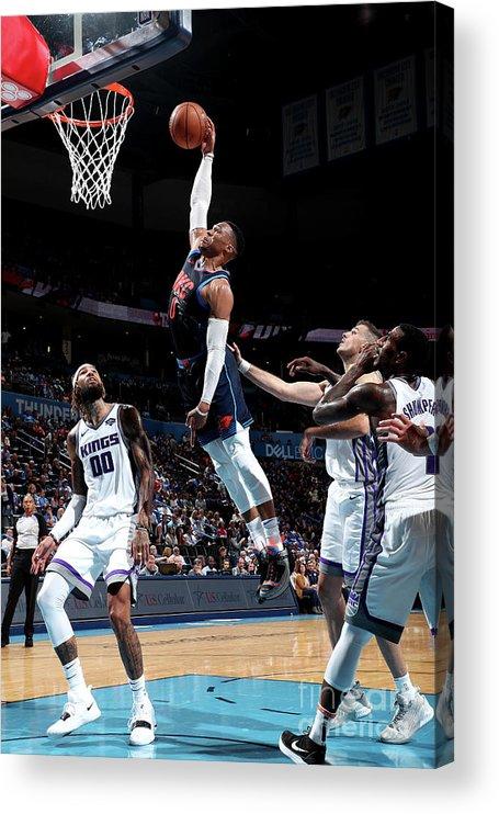 Nba Pro Basketball Acrylic Print featuring the photograph Russell Westbrook by Joe Murphy