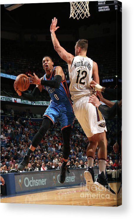 Smoothie King Center Acrylic Print featuring the photograph Russell Westbrook by Layne Murdoch