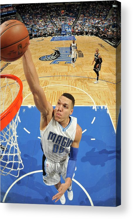 Nba Pro Basketball Acrylic Print featuring the photograph Aaron Gordon by Fernando Medina