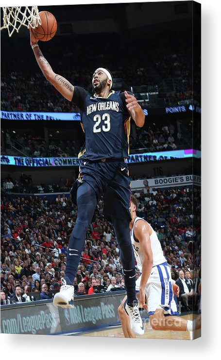 Smoothie King Center Acrylic Print featuring the photograph Anthony Davis by Layne Murdoch