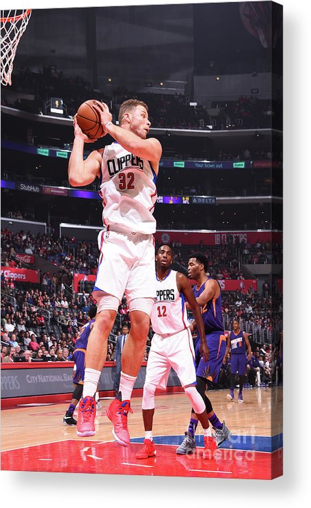 Nba Pro Basketball Acrylic Print featuring the photograph Blake Griffin by Juan Ocampo