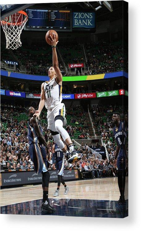 Nba Pro Basketball Acrylic Print featuring the photograph Dante Exum by Melissa Majchrzak