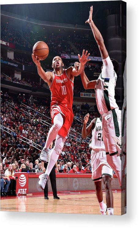 Nba Pro Basketball Acrylic Print featuring the photograph Eric Gordon by Bill Baptist