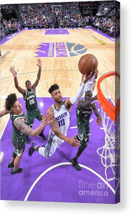 Nba Pro Basketball Acrylic Print featuring the photograph Frank Mason by Rocky Widner