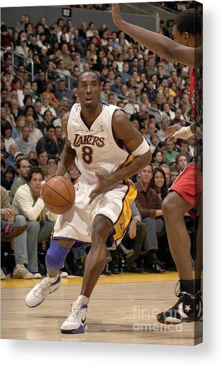 Nba Pro Basketball Acrylic Print featuring the photograph Kobe Bryant by Noah Graham