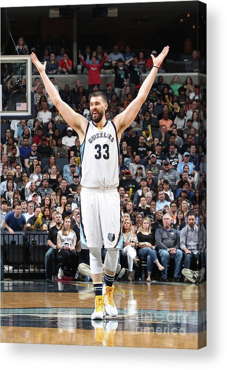 Nba Pro Basketball Acrylic Print featuring the photograph Marc Gasol by Joe Murphy