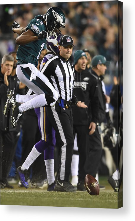 Playoffs Acrylic Print featuring the photograph NFL: JAN 21 NFC Championship Game - Vikings at Eagles by Icon Sportswire