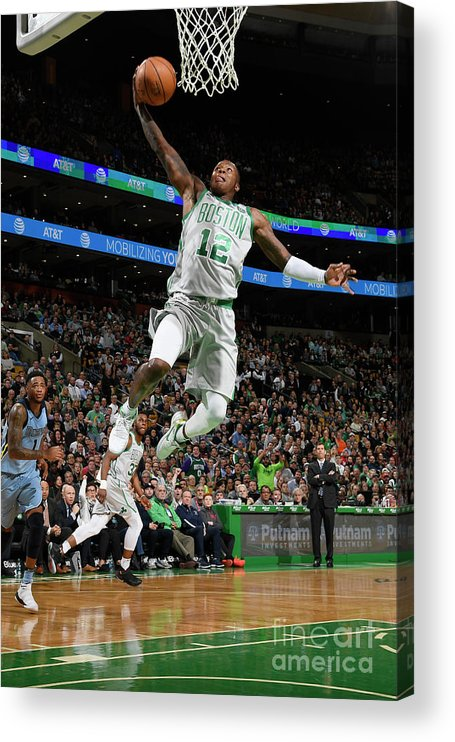 Nba Pro Basketball Acrylic Print featuring the photograph Terry Rozier by Brian Babineau