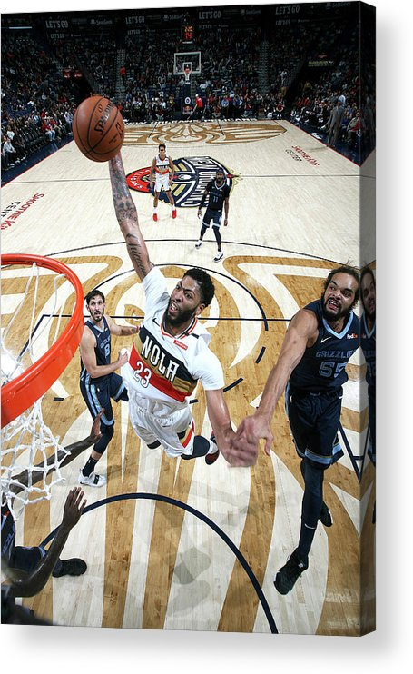 Smoothie King Center Acrylic Print featuring the photograph Anthony Davis by Layne Murdoch Jr.