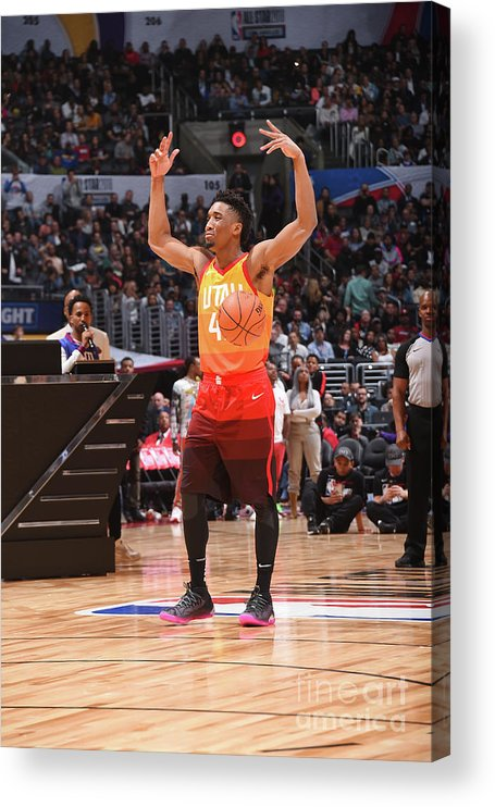 Event Acrylic Print featuring the photograph Donovan Mitchell by Andrew D. Bernstein