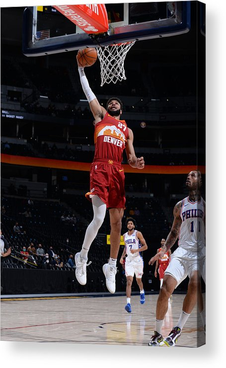 Nba Pro Basketball Acrylic Print featuring the photograph Jamal Murray by Bart Young