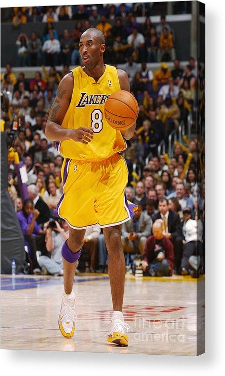 Upcourt Acrylic Print featuring the photograph Kobe Bryant by Noah Graham