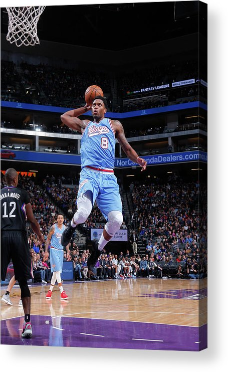 Nba Pro Basketball Acrylic Print featuring the photograph Rudy Gay by Rocky Widner