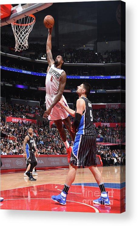Nba Pro Basketball Acrylic Print featuring the photograph Deandre Jordan by Andrew D. Bernstein