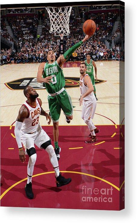 Nba Pro Basketball Acrylic Print featuring the photograph Jayson Tatum by Jesse D. Garrabrant