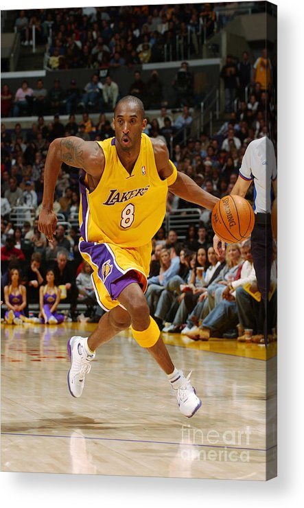 Upcourt Acrylic Print featuring the photograph Kobe Bryant by Noah Graham