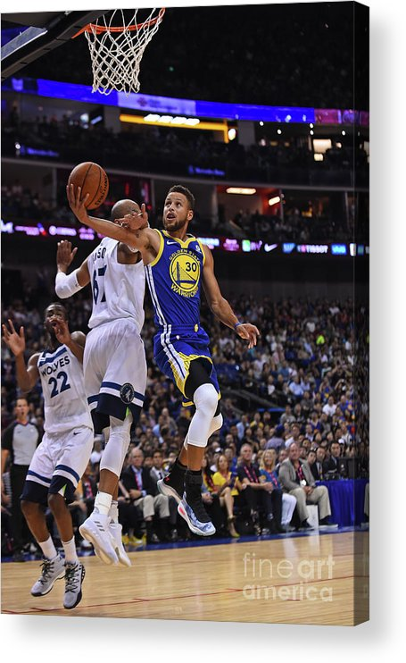 Event Acrylic Print featuring the photograph Stephen Curry by Noah Graham